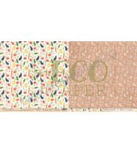 Бумага для скрапбукинга двусторонняя 30.5х30.5 см, 250 гр/м, коллекция Завтрак на веранде, лист Витаминный салат