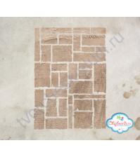 Трафарет пластиковый Блоки, 12х18 см