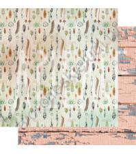 Бумага для скрапбукинга двусторонняя, коллекция PHOTOсинтез, 30х30 см плотность 190г/м, лист Что посеешь, то пожнешь