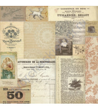Бумага для скрапбукинга односторонняя коллекция Attic Treasures, 30.5х30.5 см, 180 гр/м, лист Madonna Collage