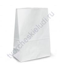 Пакет из крафт-бумаги, плотность 70 гр, 22х29х12 см, цвет белый