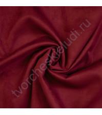Трикотаж с имитацией Замши, плотность 250 г/м2, размер 50х75 см (+/- 2см), цвет вишневый