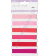 Набор лент из органзы Pink, шир. 13 мм, 6 оттенков по 1 метру