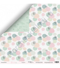 Бумага для скрапбукинга односторонняя 30.5х30.5 см, 190 гр/м, коллекция Purr Purr, лист Пузырьки