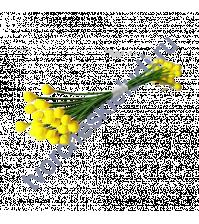 Тычинки маленькие желтые на проволоке, двусторонние, 50 шт/уп