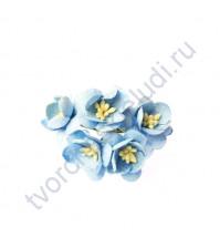 Цветы вишни, 5 шт, цвет т.голубой