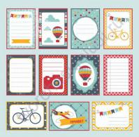 Бумага для скрапбукинга односторонняя, коллекция Мой яркий мир, 30х30 см, 250 гр/м2, лист Карточки