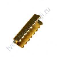 Зажим-наконечник для резинок 2х11 мм, цвет золото