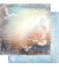 Бумага для скрапбукинга двусторонняя, коллекция Невесомость, лист 006