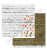 Бумага для скрапбукинга двусторонняя Физалис, 190 гр/м2, 30.5х30.5 см, лист 6