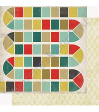 Бумага для скрапбукинга двусторонняя коллекция Well Played Collection, 30.5х30.5 см, 180 гр/м, лист Board Games
