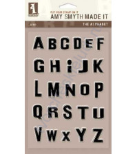 Набор штампов The Alphabet, 26 элементов, размер набора 12х18 см