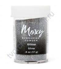 Пудра для эмбоссинга Moxy Glitter, 17 гр, цвет Silver (серебро)