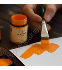 Краска акриловая Tury Design Di-7 на водной основе, флакон 60 гр, цвет Оранжевый