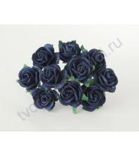 Розочки средние 2 см, 5 шт, цвет синий
