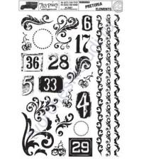 Набор натирок Pretoria Elements, 12.5х18 см, цвет черный