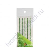 Полужемчужинки клеевые 3 мм, 175 шт, цвет зеленый травяной