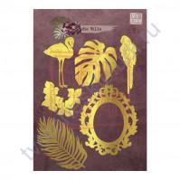 Набор декора из пластика Роскошь богемной жизни, коллекция die Villa, толщина 2 мм, 6 элементов, цвет золото