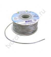 Шнур эластичный метализированный (резинка) 2 мм, цвет серебро