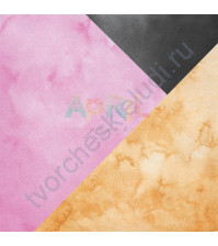 Бумага для скрапбукинга односторонняя В движении, 30.5х30.5 см, 190 гр/м, лист Геометрика