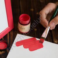 Краска акриловая Tury Design Di-7 на водной основе, флакон 60 гр, цвет Красный (Миланский красный)