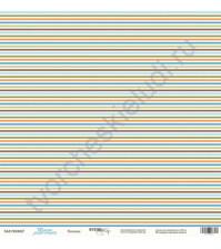Бумага для скрапбукинга односторонняя 30.5х30.5 см, 190 гр/м, коллекция Такие мальчишки , лист Полоски