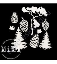 Чипборд Набор Деревья, коллекция Природа, 10х15 см