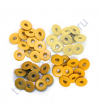 Набор люверсов Memory Keepers с широким ободом 40 шт, оттенки желтого