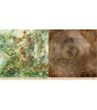 Бумага для скрапбукинга двусторонняя коллекция Осенний лес, 30.5х30.5 см, 250 гр/м, лист Лишайник