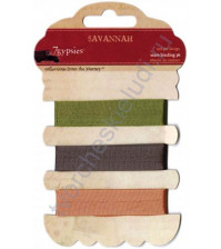 Набор шелковых лент Savannah, 3 вида по 1 ярду