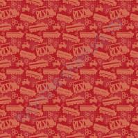 Ткань Peppy Chugginton 4157, размер 50х55 см, 100% хлопок, цвет красный