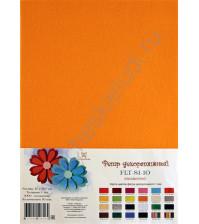 Лист фетра 21х29.7см, 1 мм, цвет тыквенный