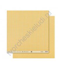 Бумага для скрапбукинга двусторонняя Базовая 30.5х30.5 см, 180 гр/м2, лист Желтый
