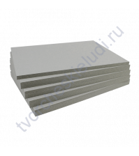 Переплетный картон (чипборд) двусторонний, формат 15х20 см, толщ 1 мм