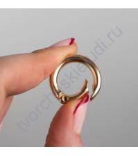 Кольцо-карабин, 0.4х1.6 см, цвет золото