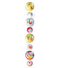 Набор пластиковых декоративных элементов Pebbles 1.25 и 1.88 см, 8 шт, коллекция Umbrella