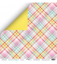 Бумага для скрапбукинга односторонняя 30.5х30.5 см, 190 гр/м, коллекция Sweet Girl, лист Конфетка