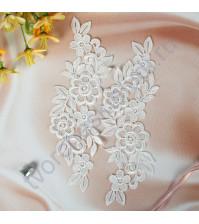 Декоративный элемент Лейс, 7х25 см, цвет белый, 1 штука