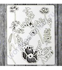 Набор чипборда Цветы, коллекция Дыхание лета, размер 11.5х16.5 см
