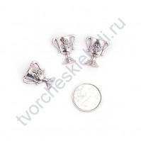 Декоративный элемент Кубок, 17х17 мм, цвет серебро