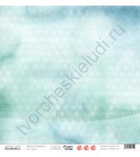 Бумага для скрапбукинга односторонняя, коллекция Сказки на ночь, 30.5х30.5 см, 190 гр\м2, лист Бирюза