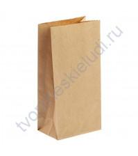 Пакет из крафт-бумаги, плотность 70 гр/м2, 12х8х25 см