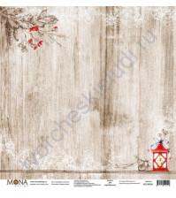 Бумага для скрапбукинга односторонняя Зимняя сказка, 30.5х30.5 см, 190 гр/м, лист Серебряное копытце