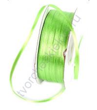 Лента атласная шир. 3 мм, цвет светло-зеленый, 1 м
