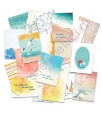 Набор карточек для журналинга Лазурные берега, плотность 190 гр/м, 20 штук