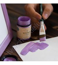 Краска акриловая перламутровая Tury Design Di-7 на водной основе, флакон 60 гр, цвет сиреневый перламутр
