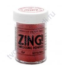 Пудра для эмбоссинга с глиттером ZING!, 28.4 гр, цвет Red Glitter (красные блестки)