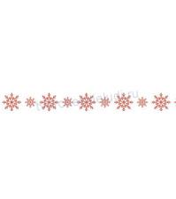 Бумажный скотч с принтом Снежинки красные, коллекция Русская зима, 15ммх8м