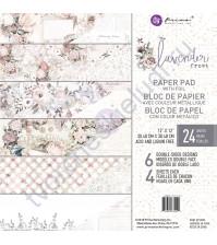 Набор двусторонней бумаги с фольгированием Lavender Frost, 30.5х30.5 см, 24 листа (ЦЕНА УКАЗАНА ЗА 1/2 ЧАСТЬ НАБОРА - 12 листов)