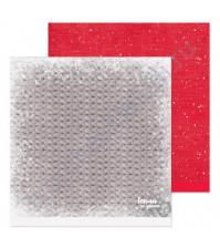 Бумага для скрапбукинга двусторонняя 30.5х30.5 см, 190 гр/м, лист Плед